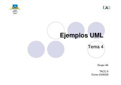 Ejemplos UML