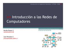 Introducción a las Redes de  Computadores