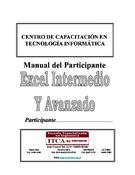 Microsoft Excel intermedio y avanzado