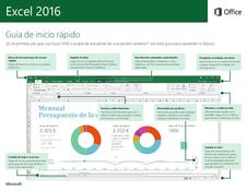 Excel 2016: Guía de inicio rápido