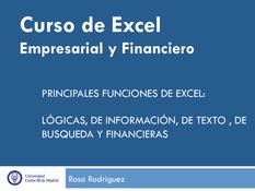 Excel Empresarial y Financiero