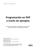 Programación en PHP a través de ejemplos