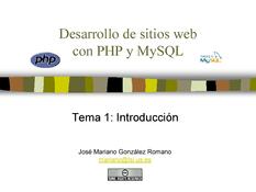 PHP y MySQL - Introducción