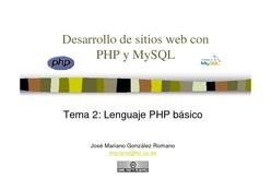 PHP y MySQL - Lenguaje PHP básico