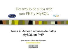 PHP y MySQL - Acceso a bases de datos