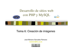 PHP y MySQL - Creación de imágenes