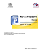 Manual Word 2010 Básico