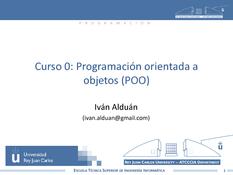 Programación orientada a objetos (POO)